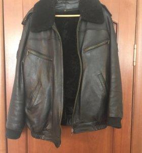 Куртка кожаная для гаи