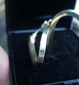 Серьги серебро,золото,кольцо золотое