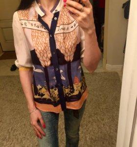 Рубашка италия шелк 🇮🇹 оригинал