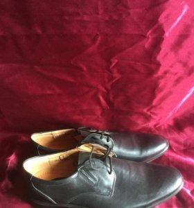 Кожаные ботинки для формы МВД