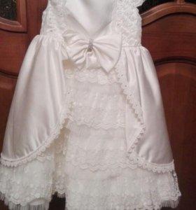 Праздничное платье + сандали для девочки