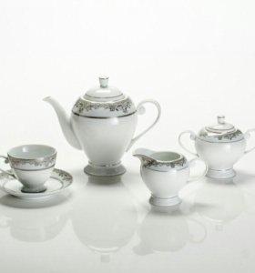 """Чайный сервиз """"Рококо"""" Чешский фарфор"""