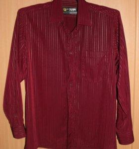 Рубашка бордо, р.48