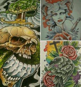 Татуировки. Эскизы татуировок.