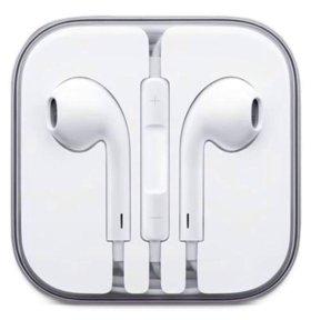 Наушники гарнитура EarPods для iPhone белые