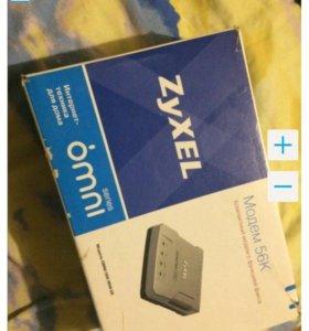 Модем zyxel omni 56K mini EE