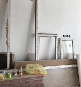 Пластиковая дверь и окно