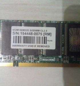 DDR I для ноутбука оперативная память