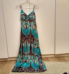 Платье в пол 100%хлопок
