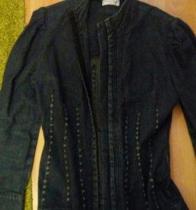 Плащ-платье джинс