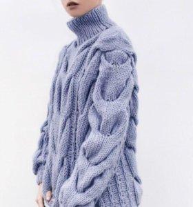 Объёмный свитер с косами