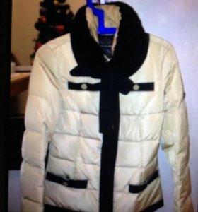Куртка пух  коричневый