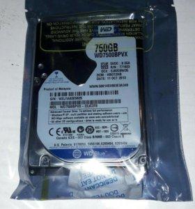 Жесткий диск для ноутбука на 750 гигобайт.
