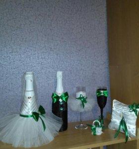 Оформление свадебных аксессуаров