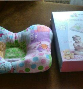 Подушка ортопедическая под голову для детей до год