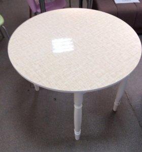 Новый стол круглый раздвижной Лен-фабрика