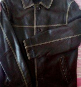 Мужская нат. кожаная куртка. Новая.