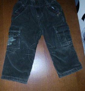 Вельветовые утепленные брюки