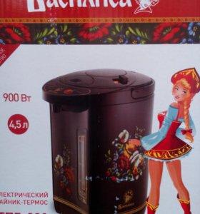 Электрический чайник-термос,новый