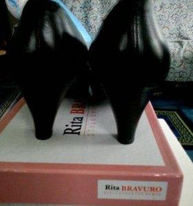 Туфли летние кожа 37 размер