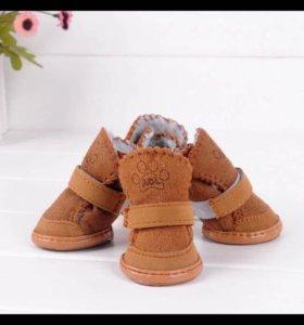 Зимние ботинки для собак мелких пород