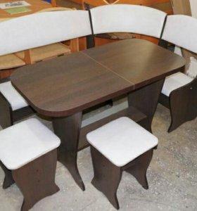 🔥🔥🔥Кухонный уголок с раскладным столом 🔥🔥🔥