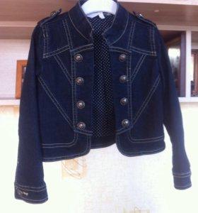 Пиджак джинсовый на девочку