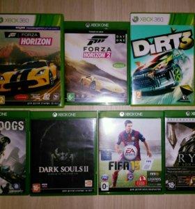 Игры Xbox One (цена за все 6 игр)
