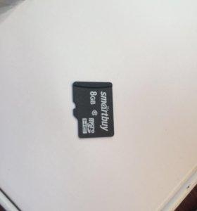 Продам карту памяти 8gb smartbuy