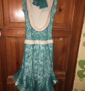 Платье с камнями Сваровски, длинна 92 см (новое)