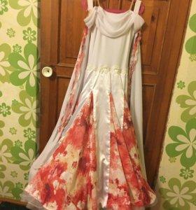 Бально-спортивное платье Ю1, стандарт,длинна 115см