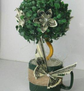 Интерьерное дерево топиарий
