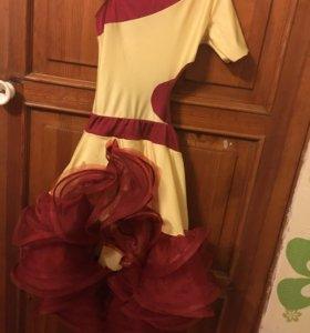 Бально-спортивное платье, Ю1, латина Длинна 95см