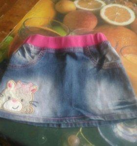 Юбка джинса 2-4 г