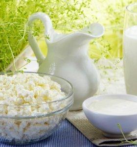 Деревенское молоко, творог и сметана (село Покров)