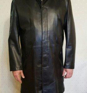 Мужской новый кожаный плащ (Турция)