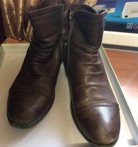 Ботинки-полусапожки из натуральной кожи