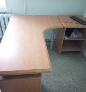 Офисный стол + тумба