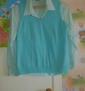 Блуза и жилет