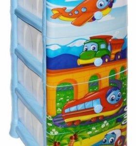 Комод детский ящик для игрушек Мультик