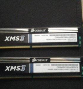 """Оперативная память ddr3 """"Corsair xms3 1600Mhz"""""""
