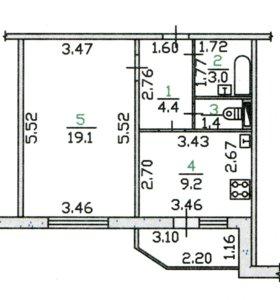 1-к квартира от собственника 40,4м2