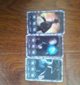 17 карточек 3 редкие 3 самые новые