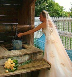 Свадебное платье! + фата + юбка