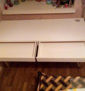 Письменный стол, белый 142x50