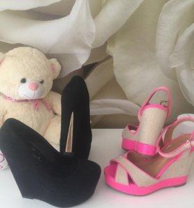 Туфли 35р (босоножки в подарок)