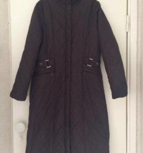 Пальто стёганное Zolla коричневое 48 размер