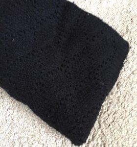 Круглый шерстяной шарф