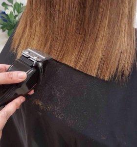 Подравнивание волос одним срезом!
