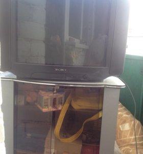 Телевизор sony trinitron + тумба